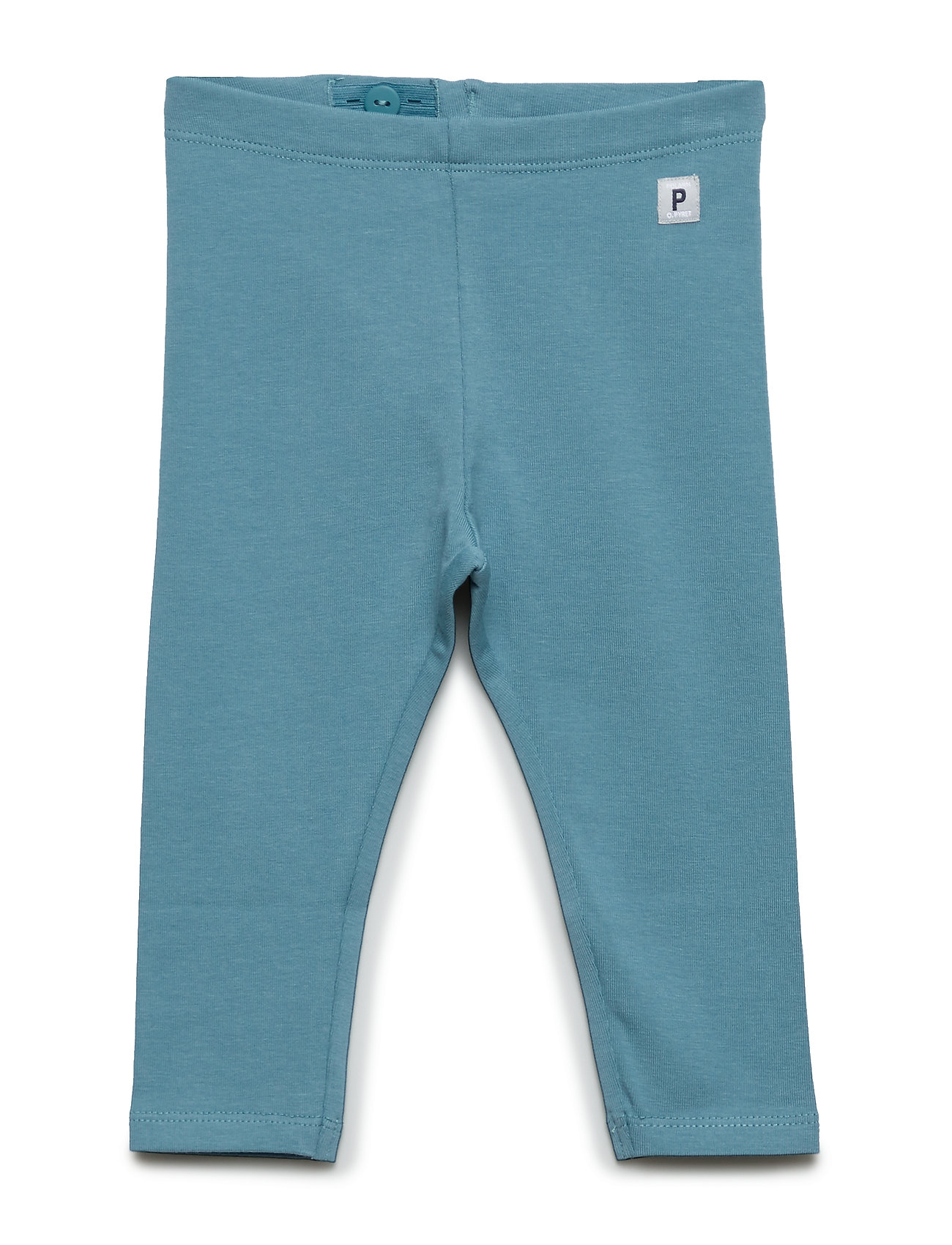 Polarn O. Pyret Leggings Solid Baby - STORM BLUE
