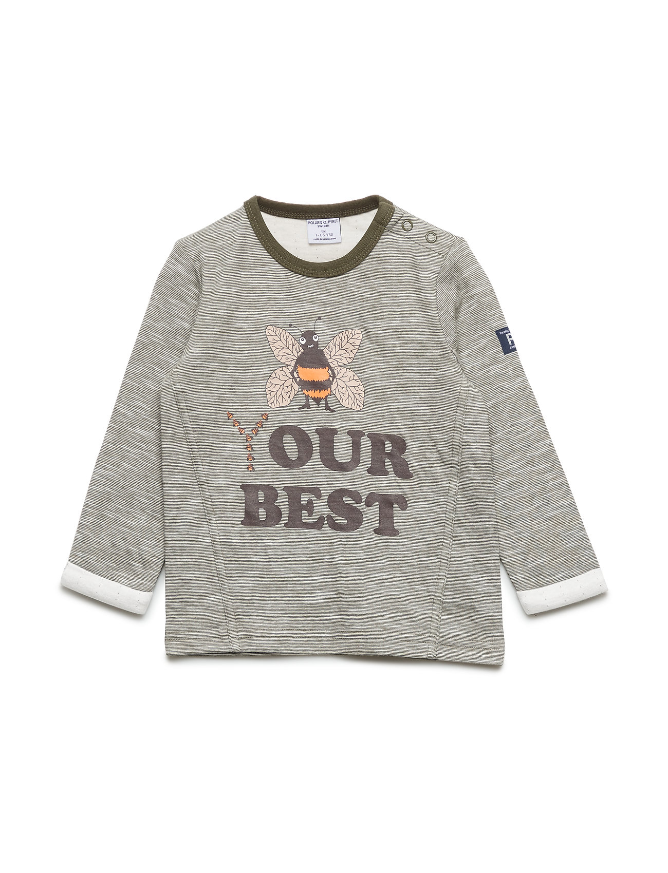 Polarn O. Pyret Top l/s w Application Pre-School - OLIVE NIGHT