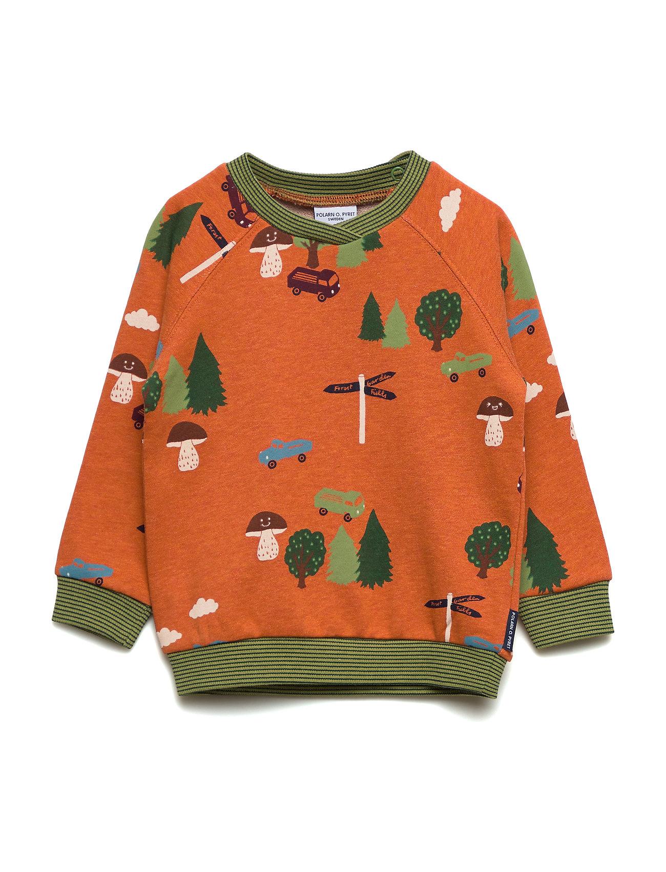 Polarn O. Pyret Sweater W APO Preschool - BURNT BRICK