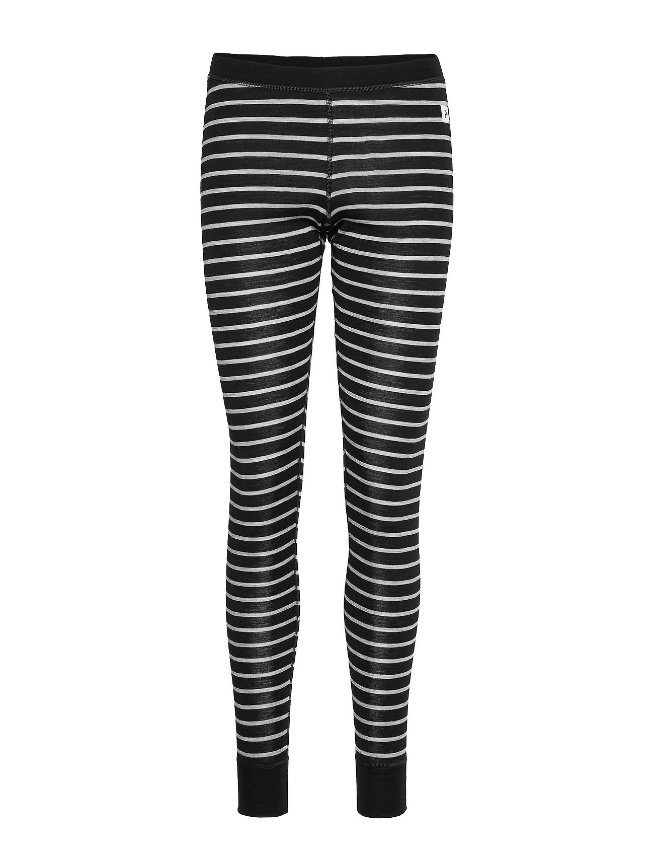 Polarn O. Pyret Long Johns Striped Adult - BLACK