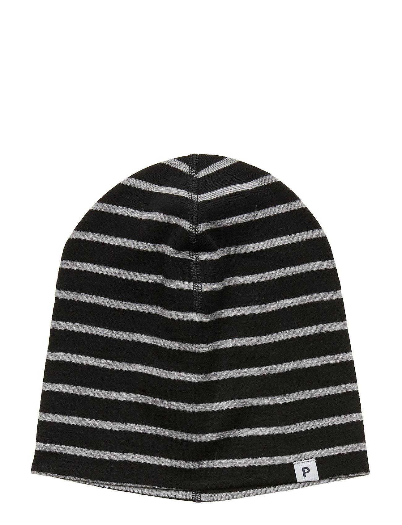 Polarn O. Pyret Cap Wool Solid Baby - GREYMELANGE