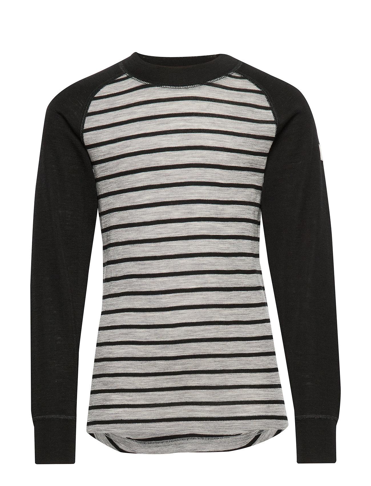 Polarn O. Pyret Sweater Wool Striped School - GREYMELANGE