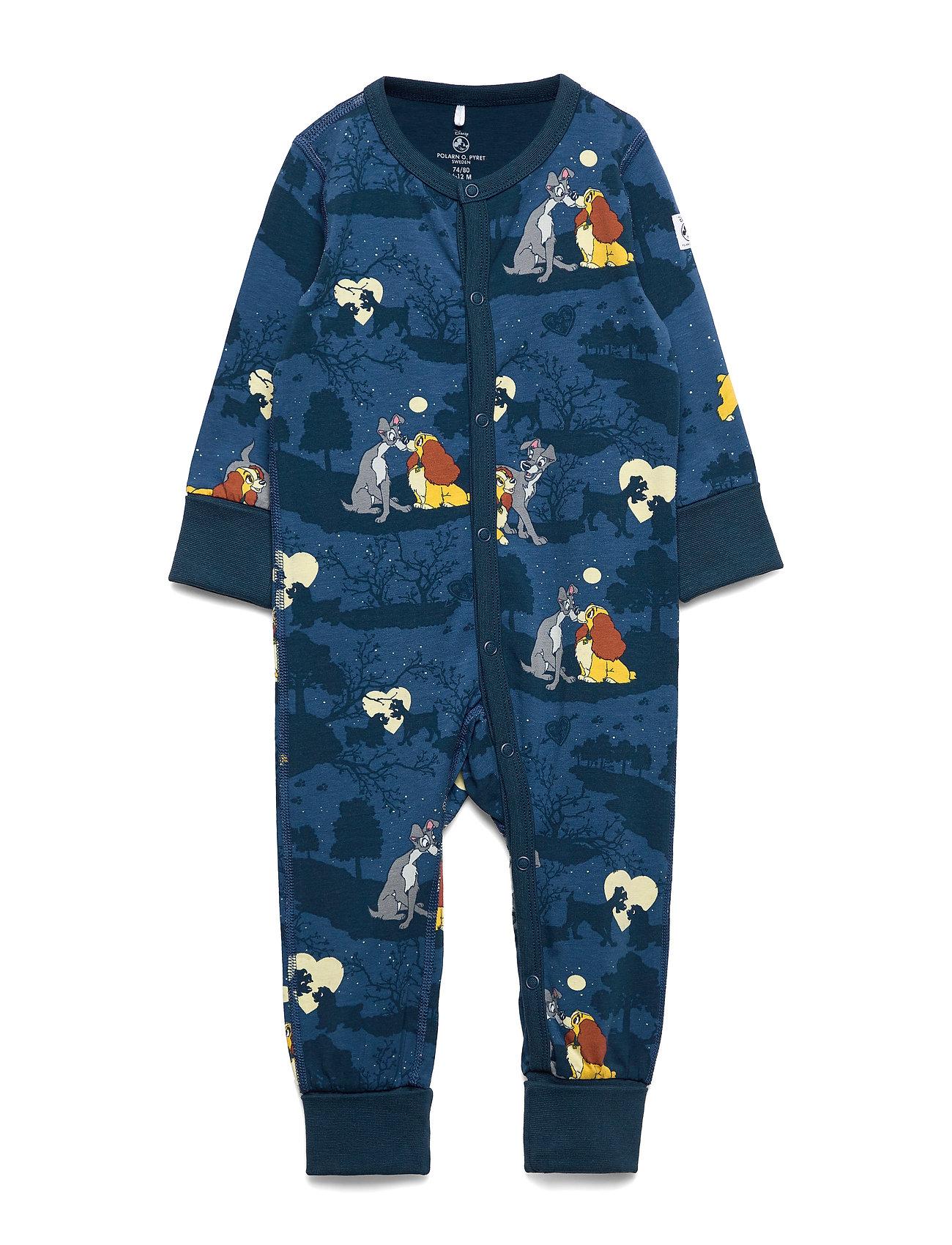 Polarn O. Pyret Pyjamas AOP Baby - DARK BLUE