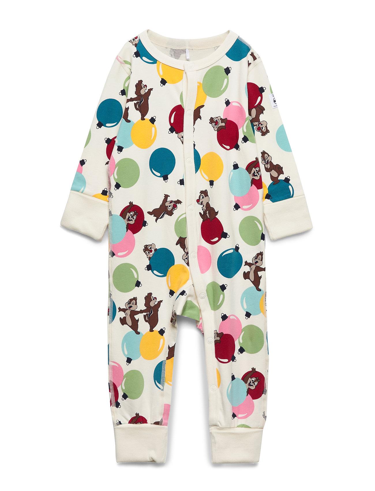 Polarn O. Pyret Disney Collection Pyjamas AOP Baby - EGRET