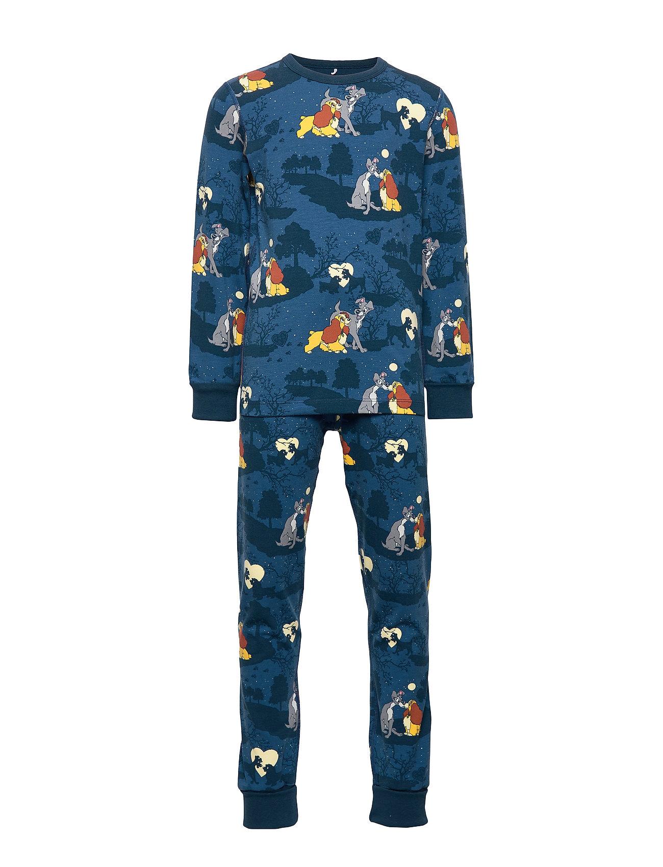 Polarn O. Pyret Disney Collection Pyjamas AOP Preschool - DARK BLUE