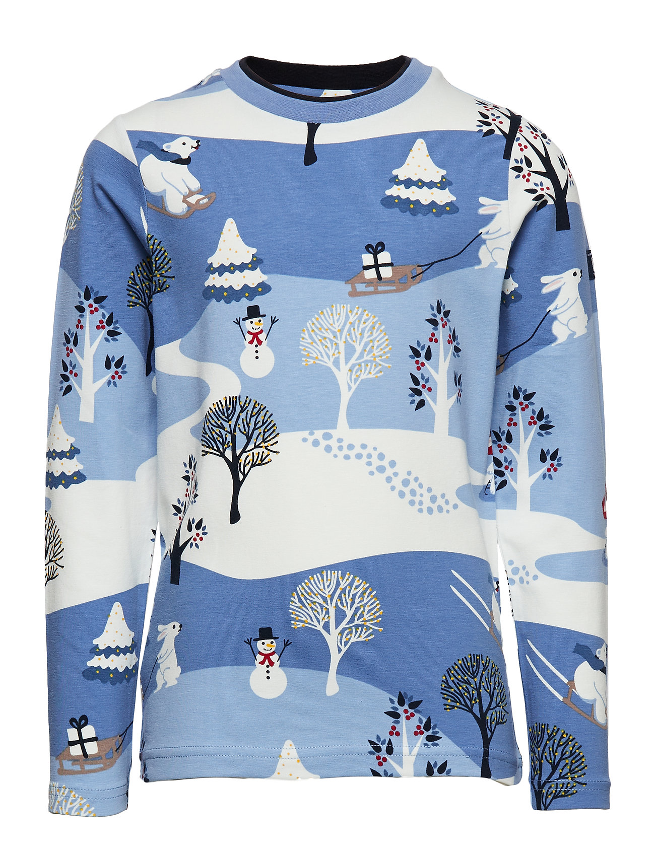 Polarn O. Pyret Top l/s AOP Pre-school - DUSK BLUE