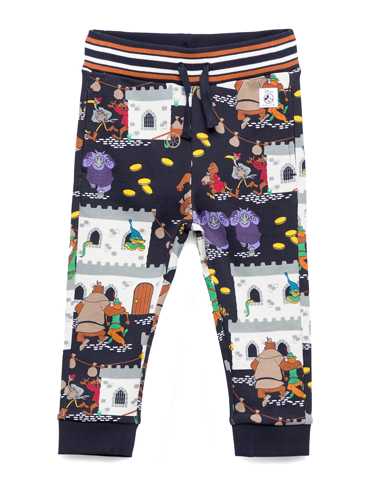 Polarn O. Pyret Disney Collection Trousers Jersey AOP Preschool - DARK SAPPHIRE