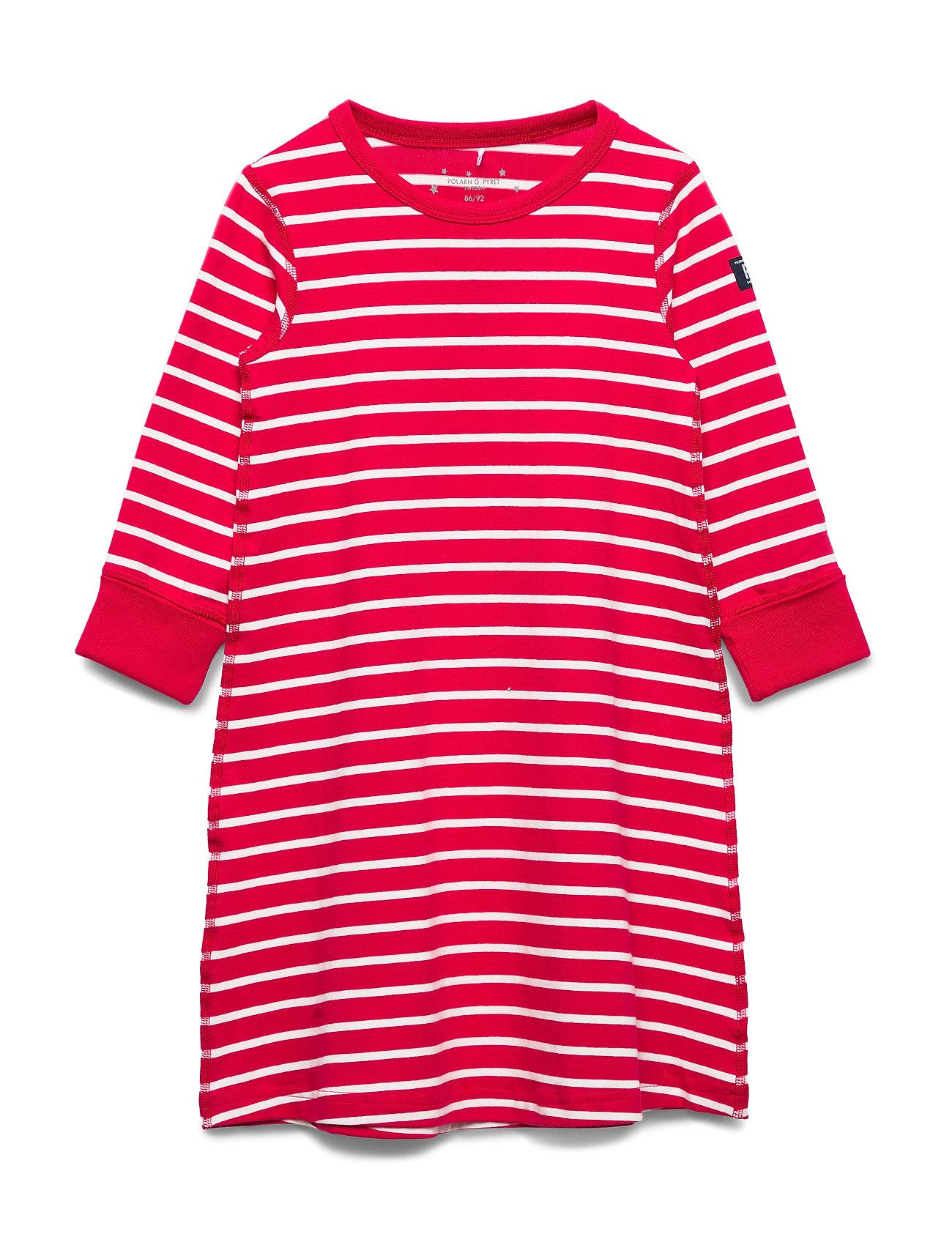 Polarn O. Pyret Nightdress L/S Striped Preschool - SKI PATROL