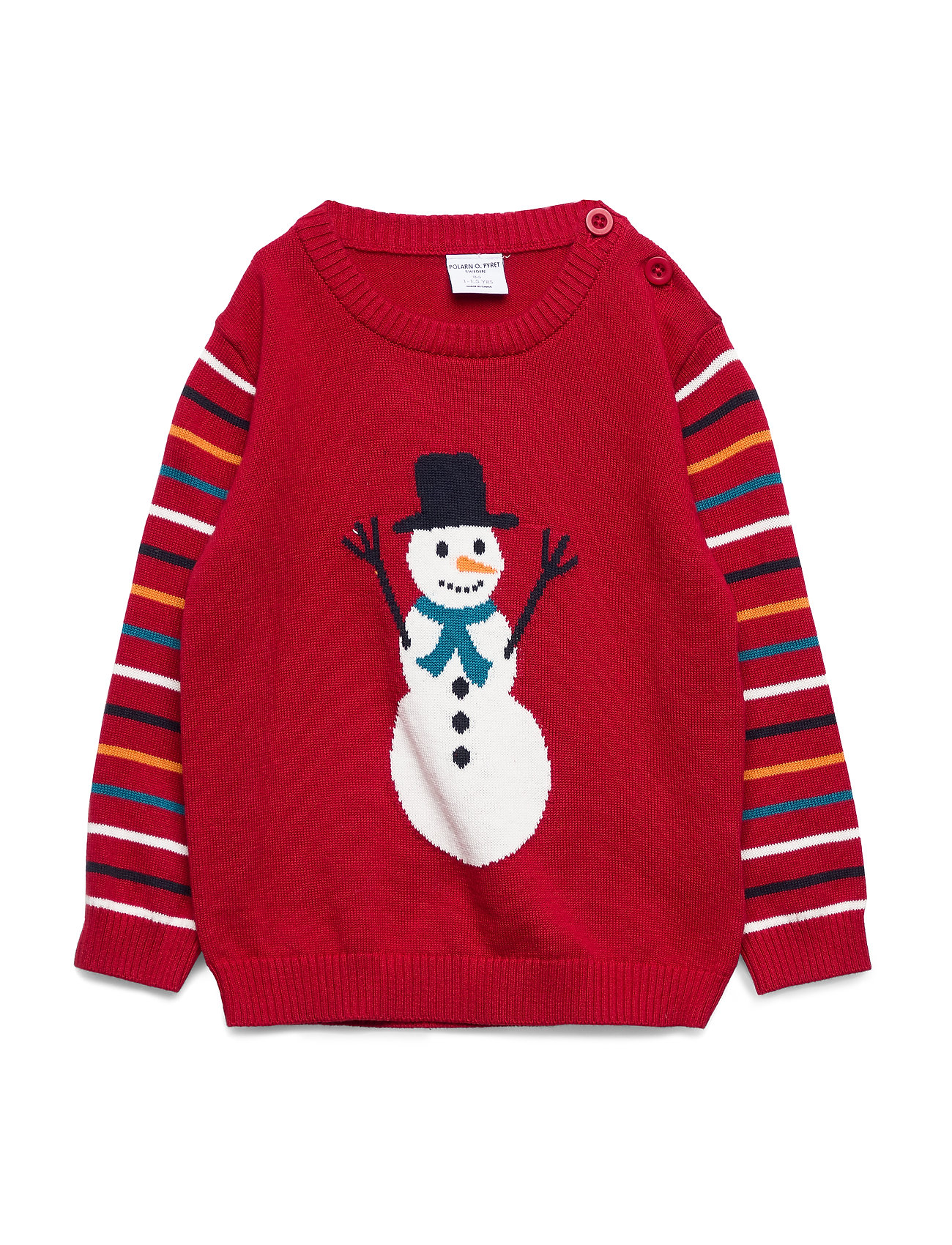 Polarn O. Pyret Sweater Knitted Pre-school - CHILI PEPPER
