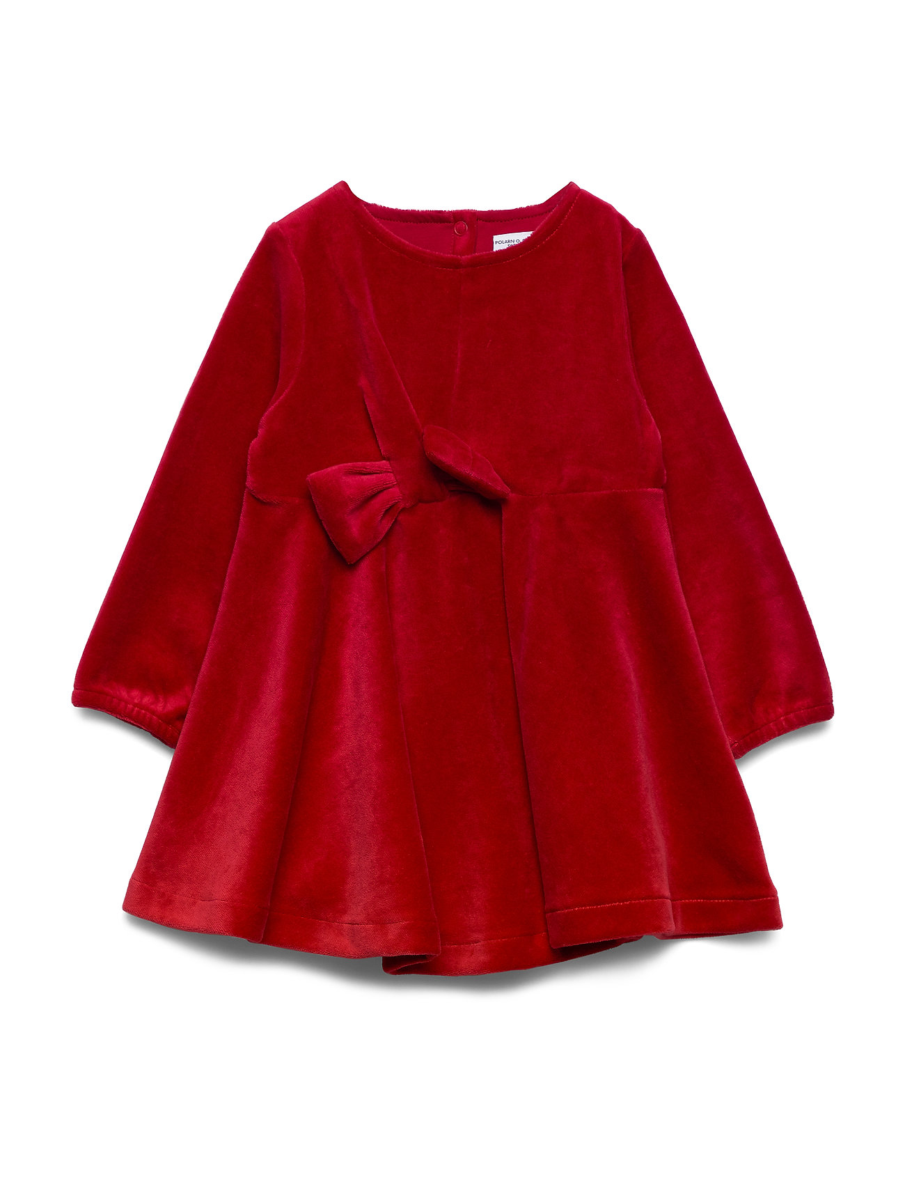 Polarn O. Pyret Dress solid w detail Preschool - CHILI PEPPER