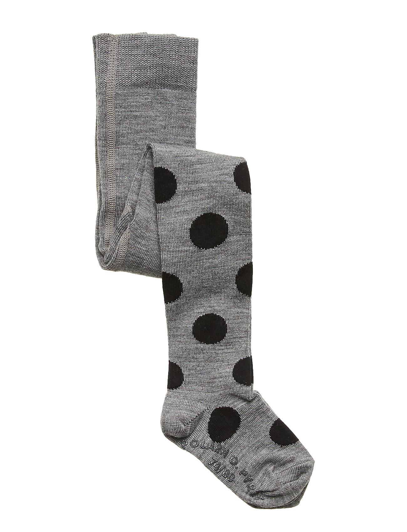 Polarn O. Pyret Tights Wool Jaquard Preschool - GREYMELANGE