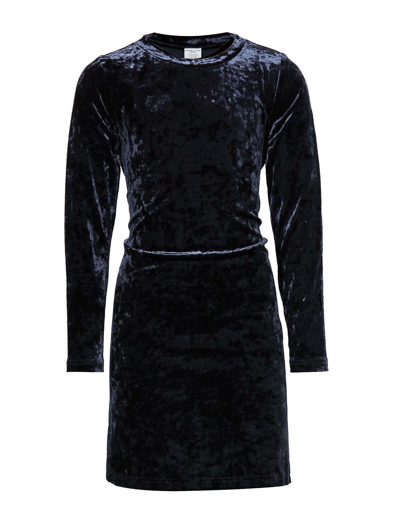 Polarn O. Pyret Dress velour l/s School - DARK SAPPHIRE