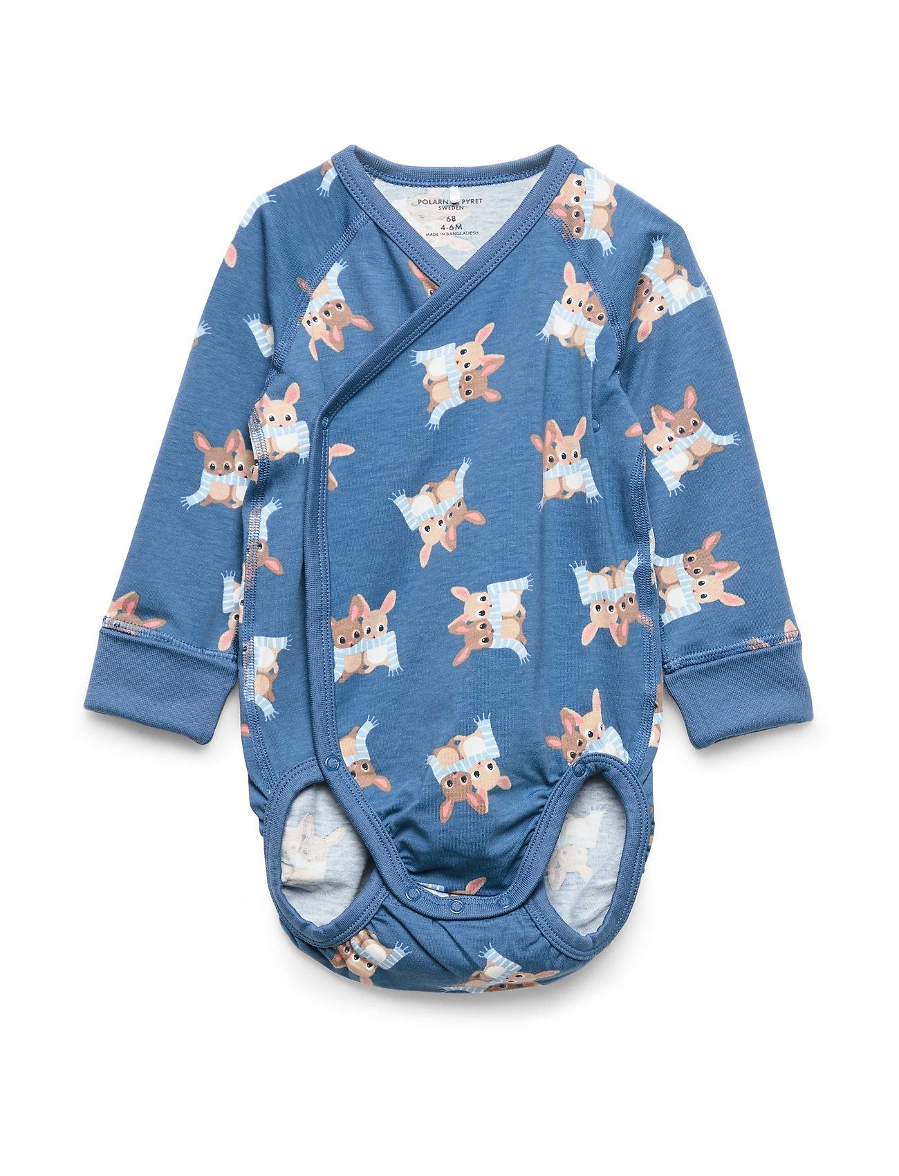 Polarn O. Pyret Body Wrapover AOP Baby - DARK BLUE