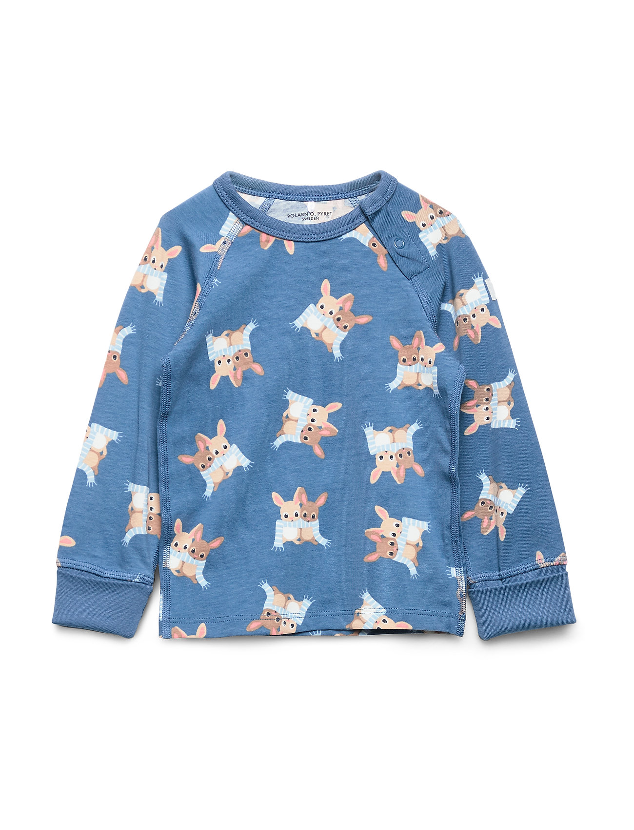 Polarn O. Pyret TOP L/S AOP Baby - DARK BLUE
