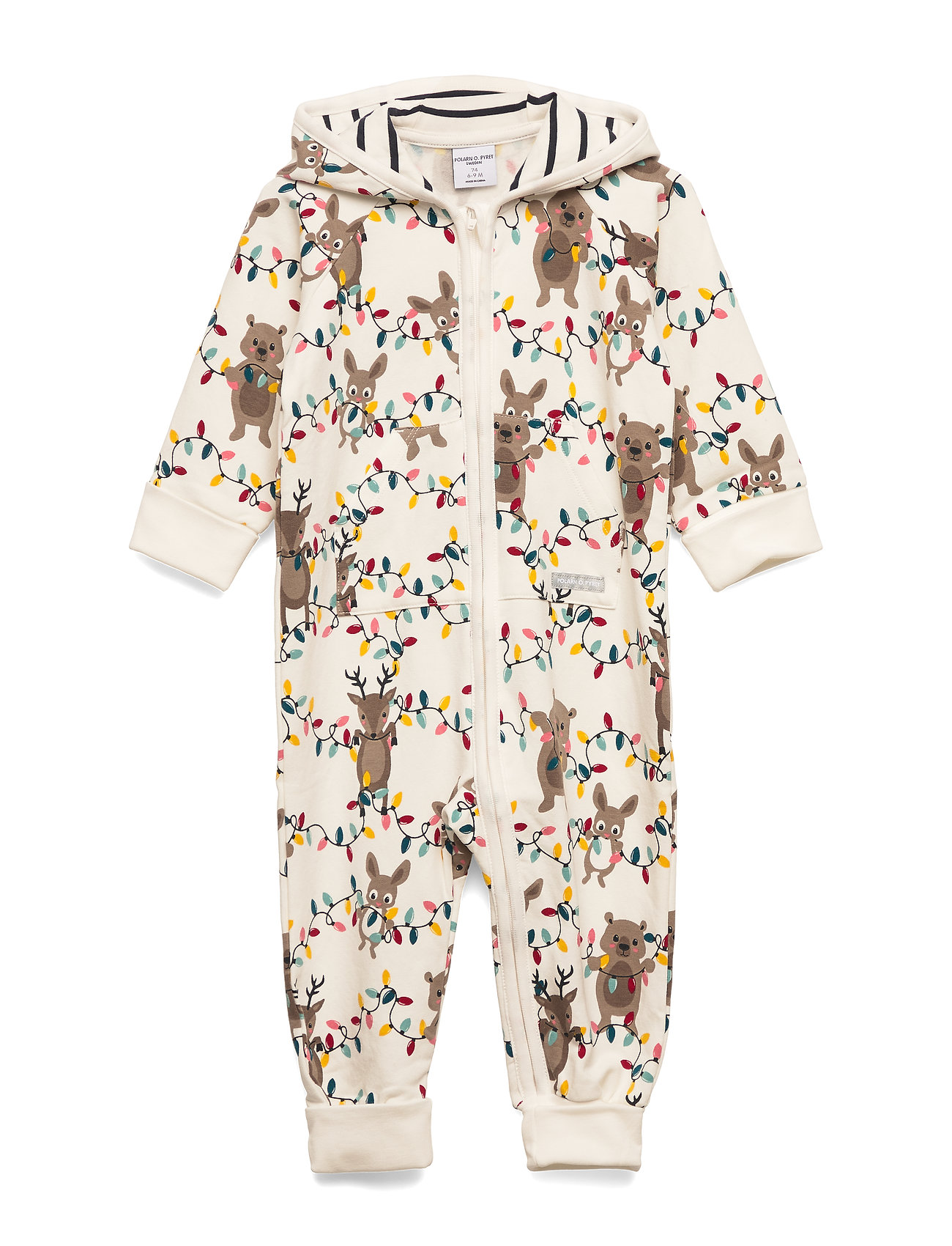 Polarn O. Pyret Overall w Hood Baby - EGRET