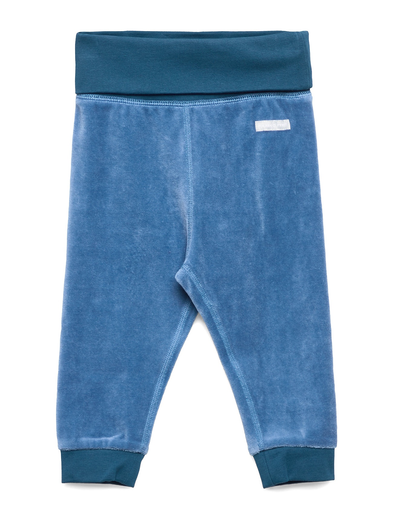 Polarn O. Pyret Trousers Velour Baby - DARK BLUE