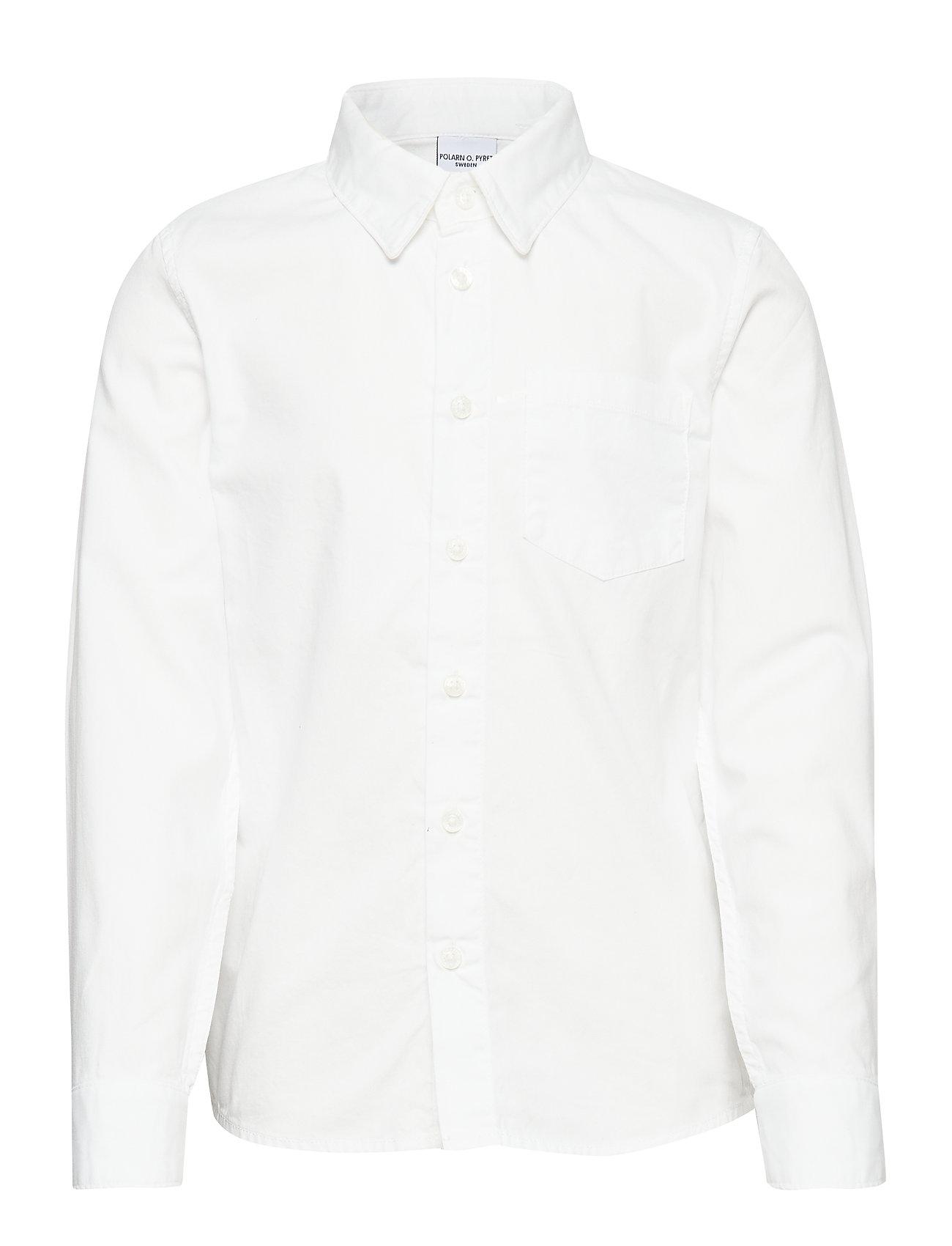Polarn O. Pyret Shirt l/s solid School - SNOW WHITE