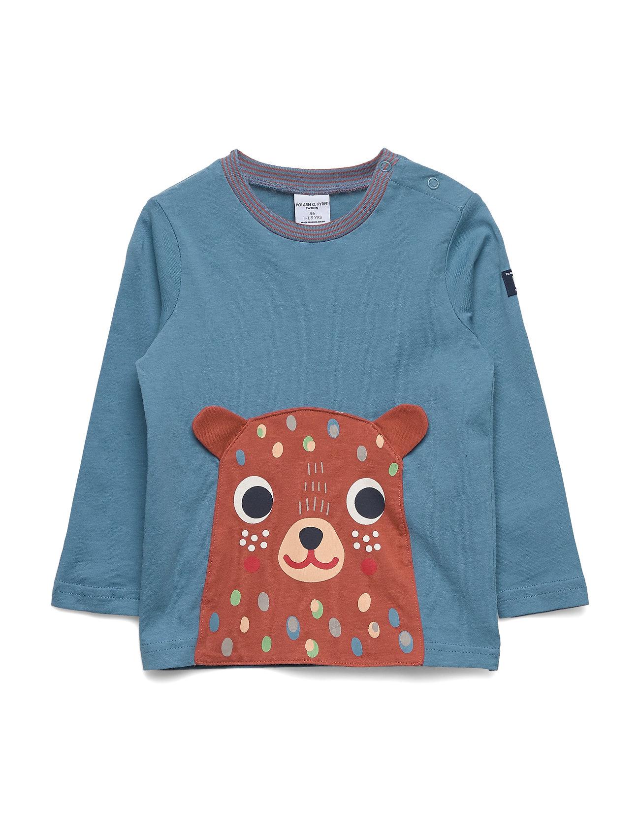 Polarn O. Pyret T-shirt l/s applique  Preschool - BLUE HEAVEN