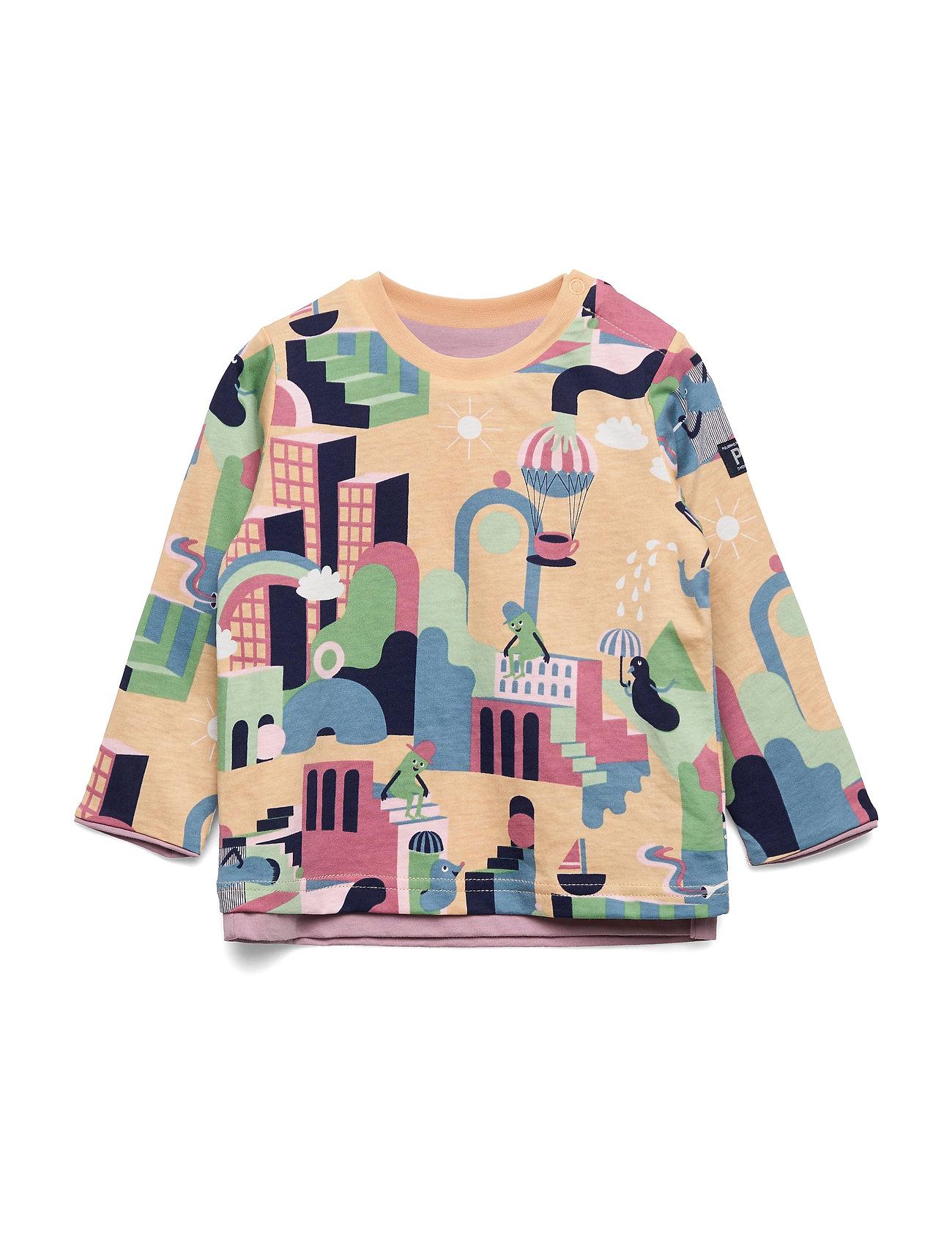 Image of T-Shirt L/S Print Preschool Langærmet T-shirt Lyserød Polarn O. Pyret (3336494735)