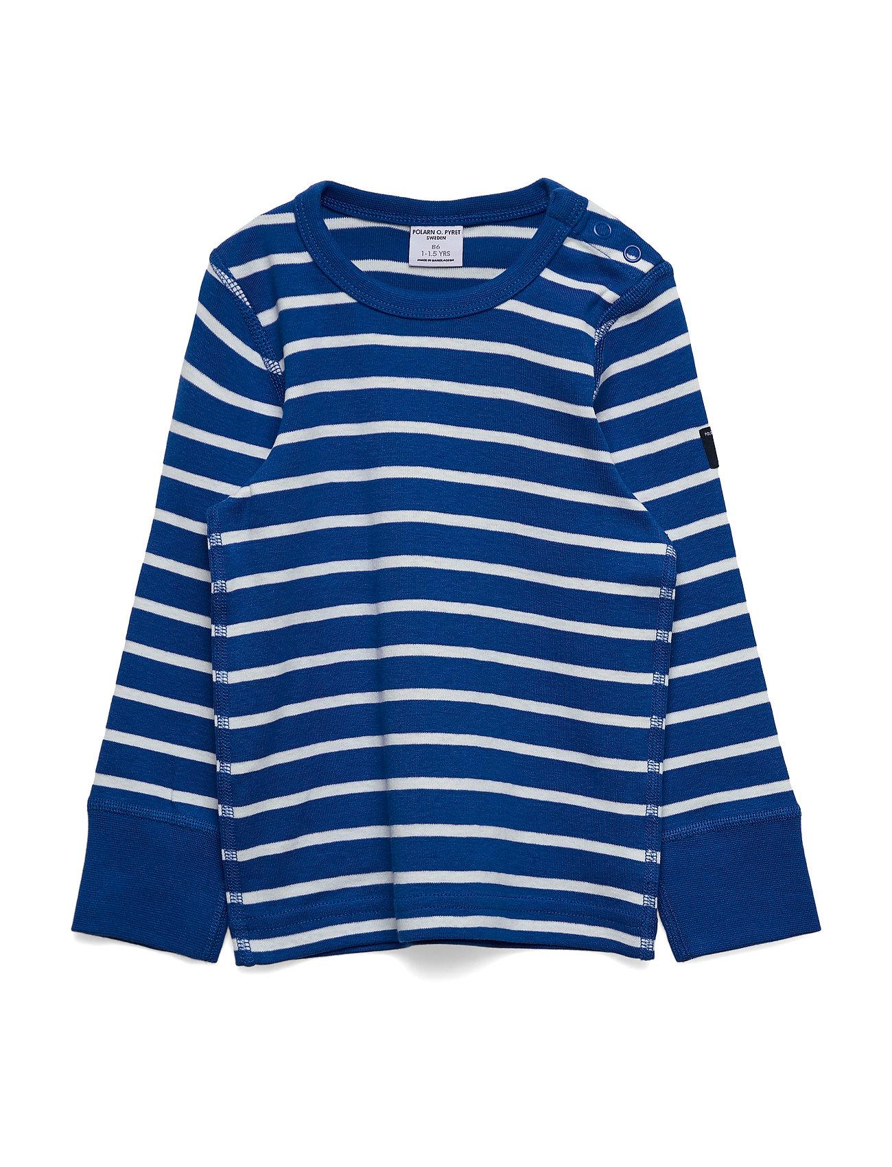 Polarn O. Pyret T-shirt L/S Stripe Preschool - PRINCESS BLUE