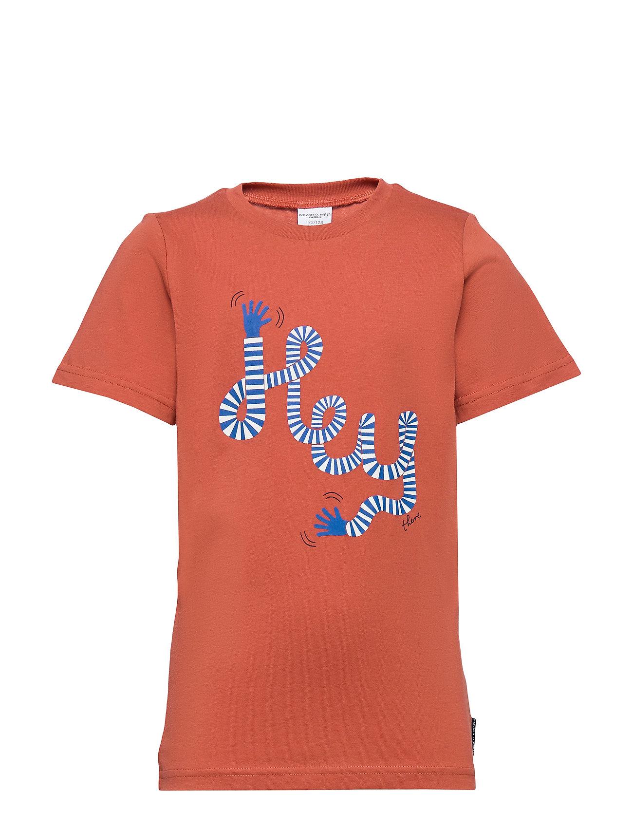 Polarn O. Pyret T-shirt Frontprint s/s School - REDWOOD