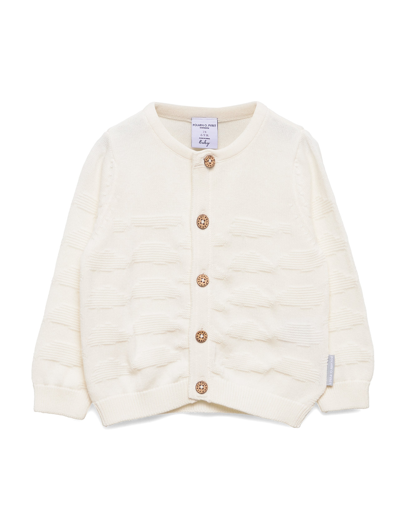 Polarn O. Pyret Top L/S Knitted Baby - SNOW WHITE