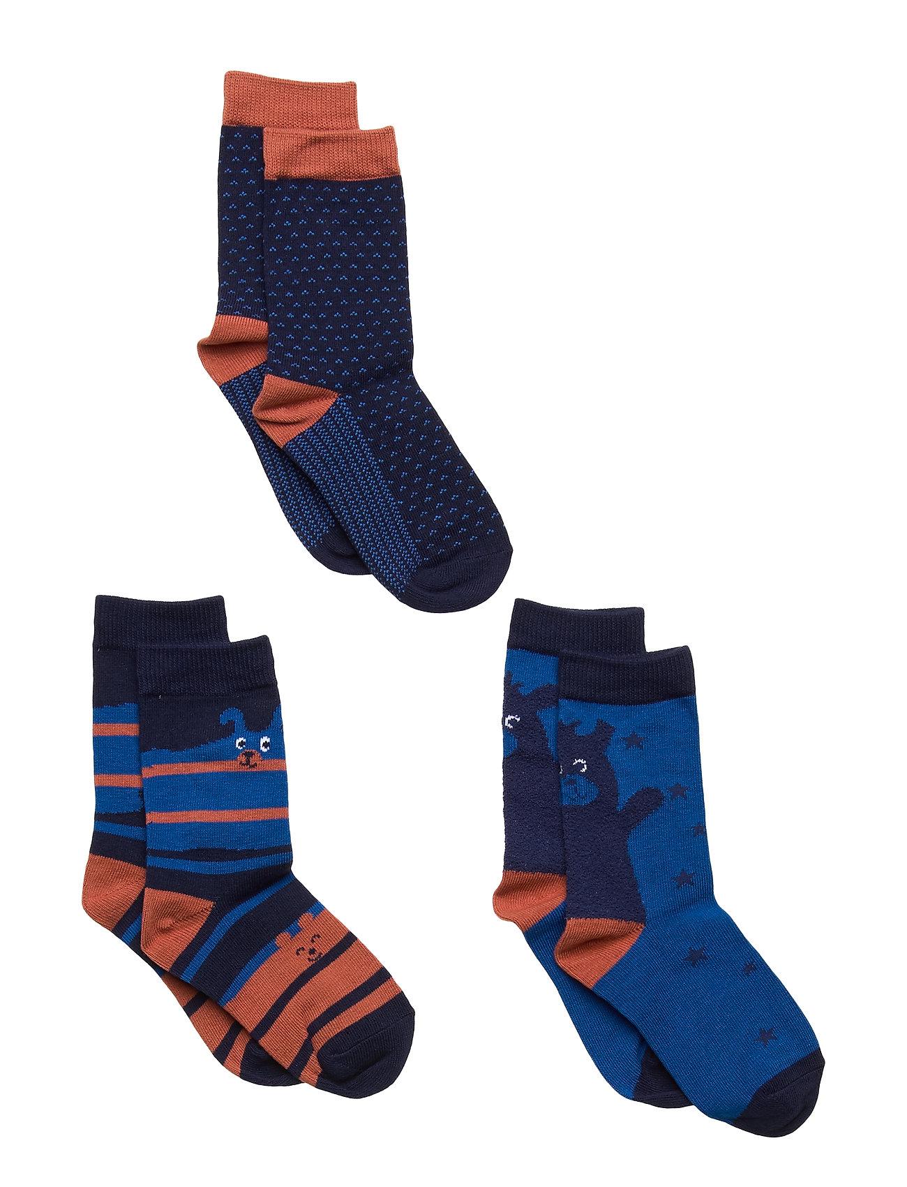 Polarn O. Pyret Socks 3-P Preschool - PRINCESS BLUE