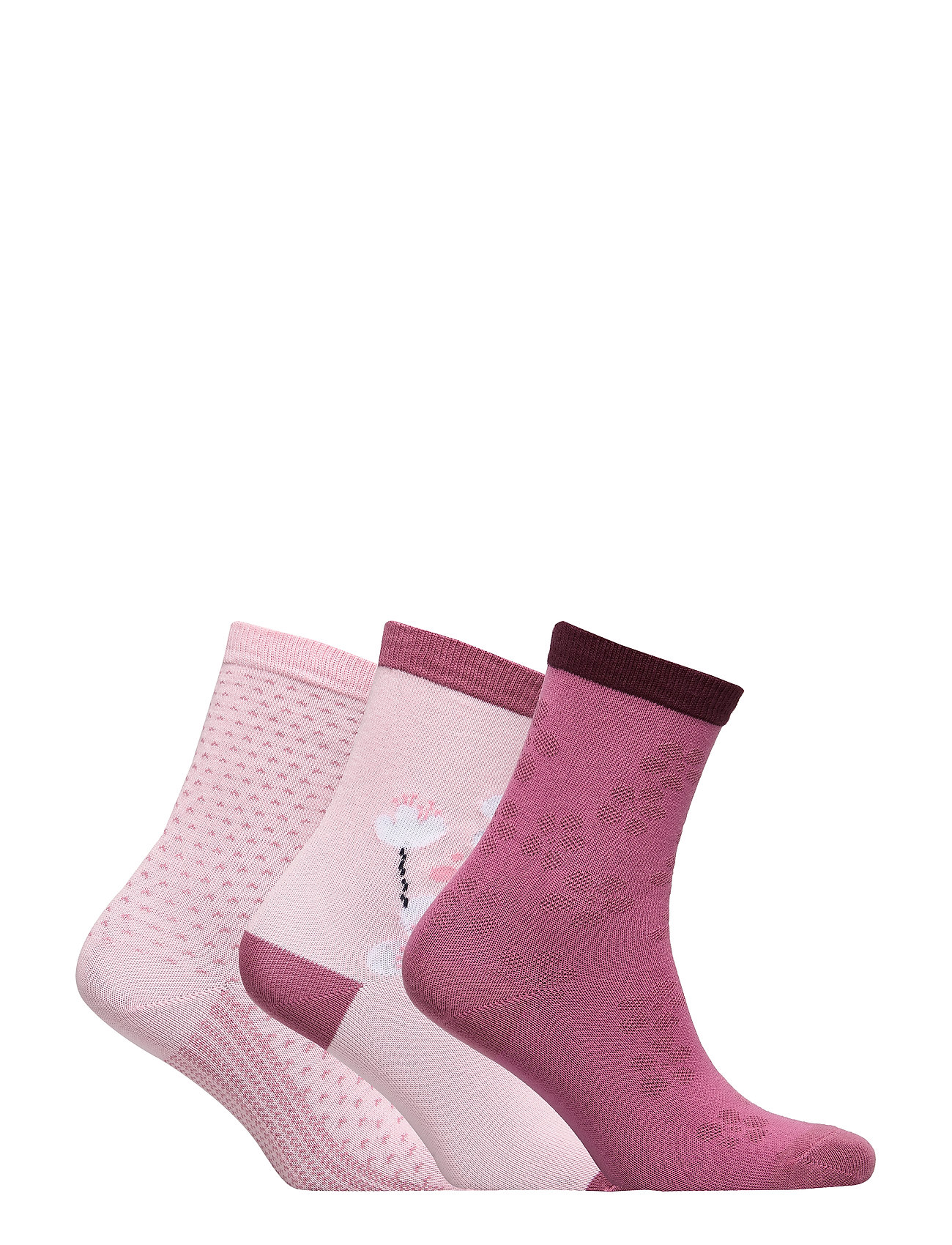 Polarn O. Pyret Socks 3-P Jaquard Preschool - ROSE SHADOW