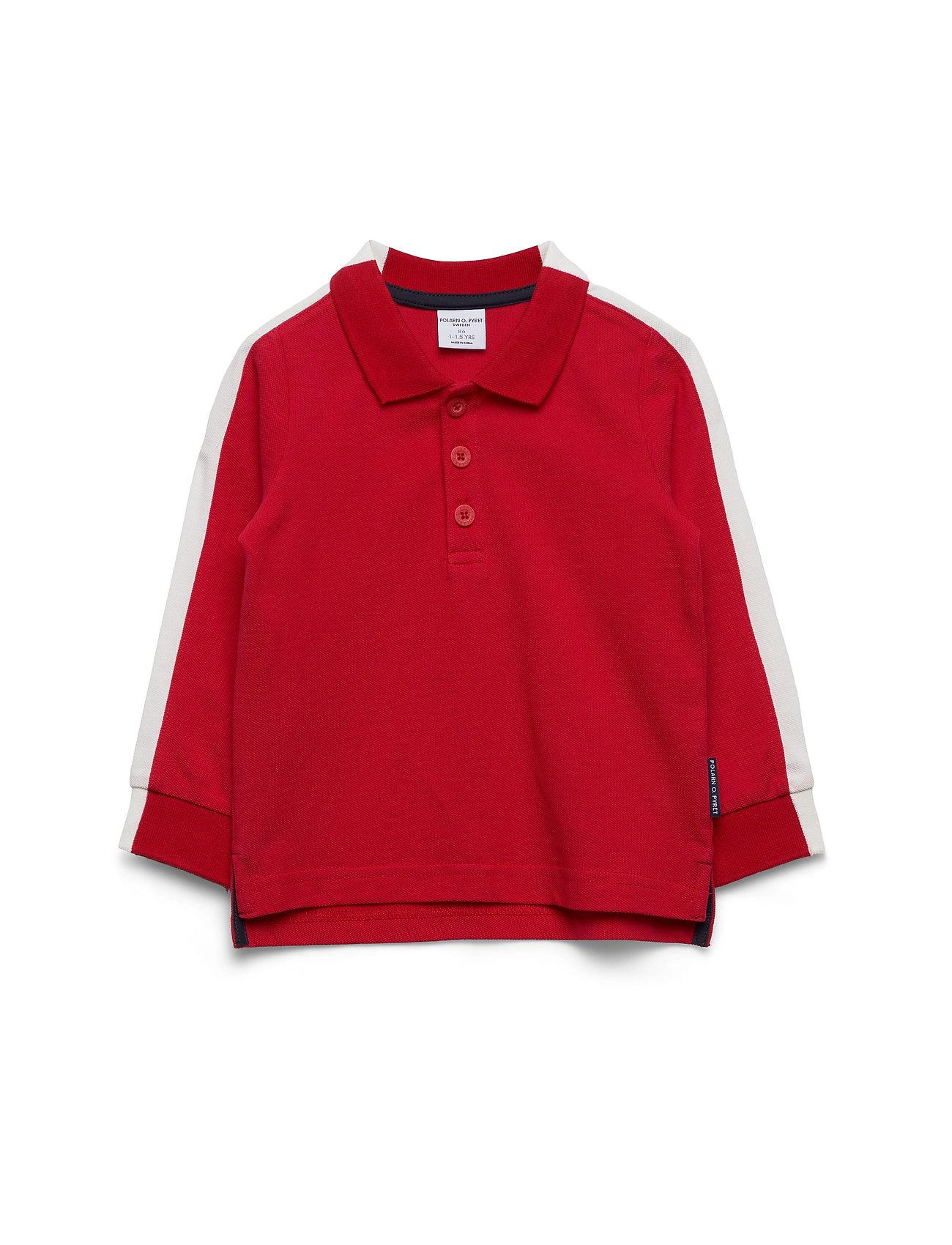 Polarn O. Pyret Top l/s Preschool - ROCOCCO RED
