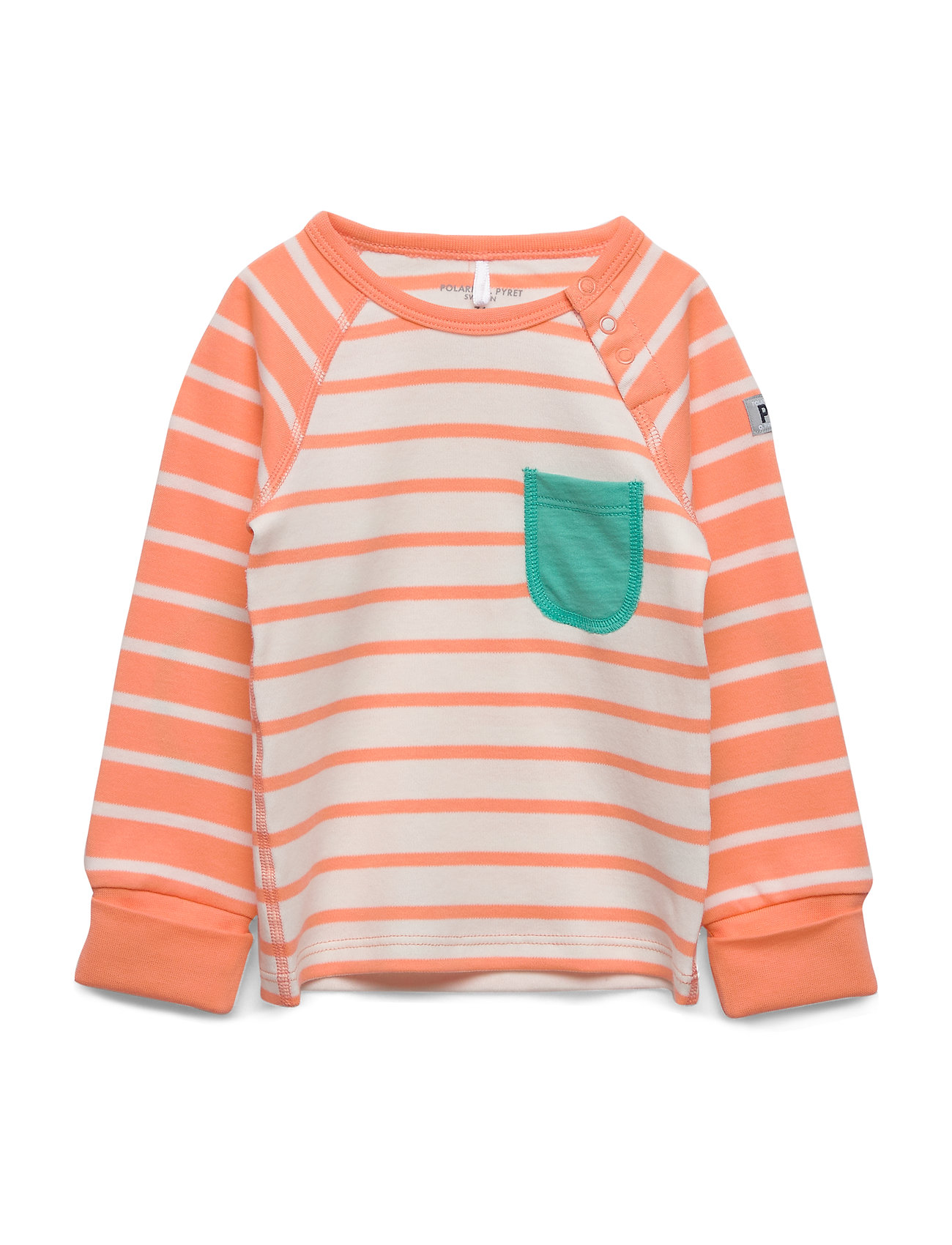 Polarn O. Pyret Top L/S Striped Baby - CANTALOUPE