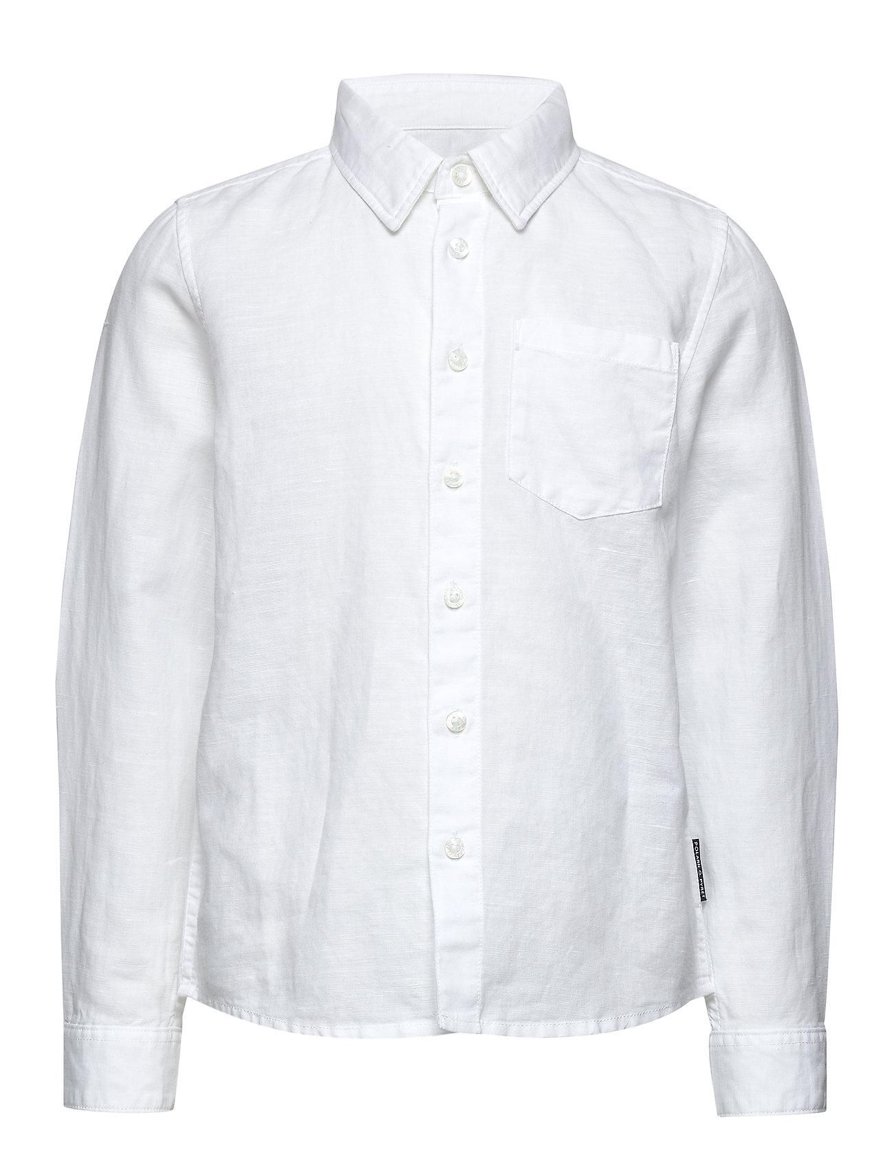 Polarn O. Pyret Shirt l/s  School - SNOW WHITE