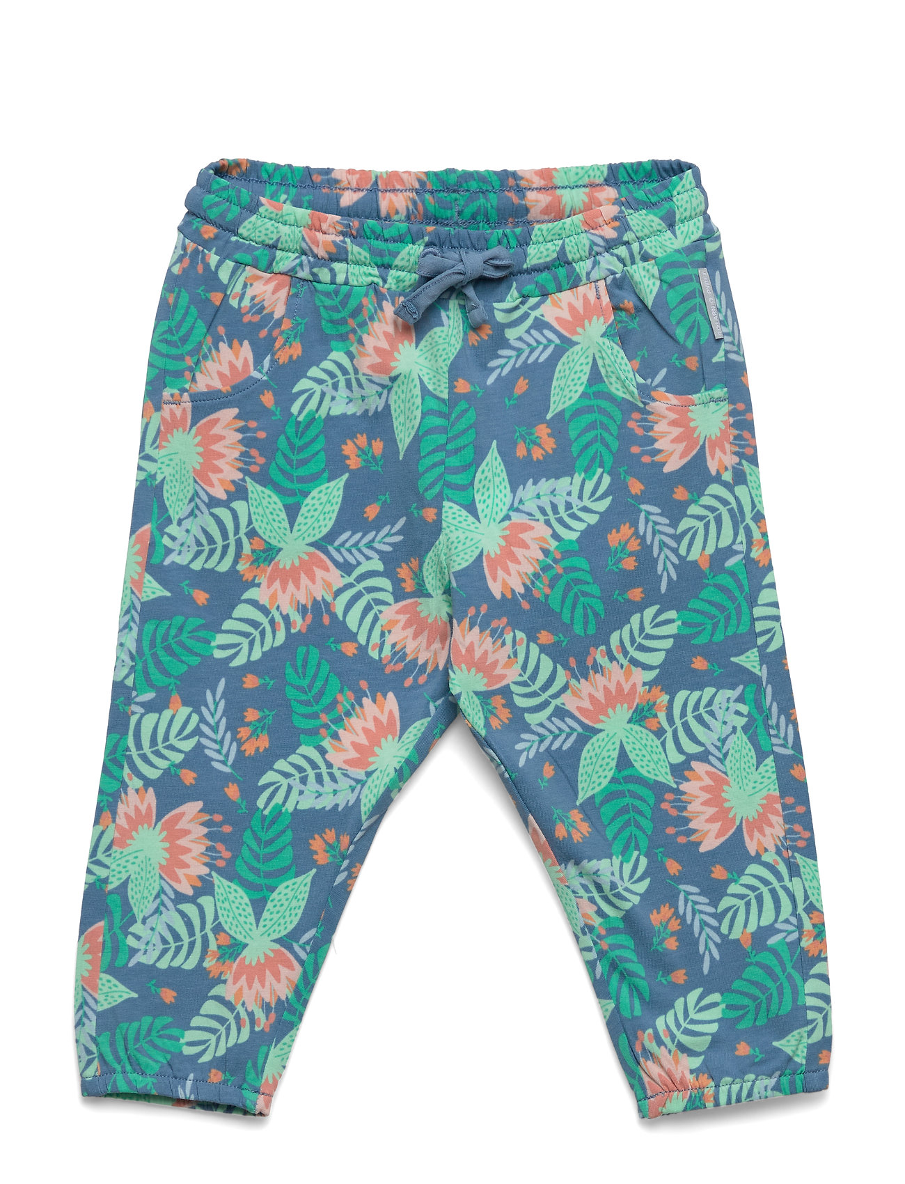 Polarn O. Pyret Trouser Jersey AOP Baby - WATERFALL