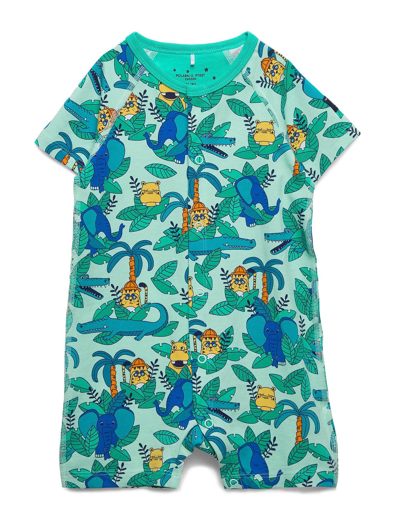 Polarn O. Pyret Pyjamas Overall AOP Baby - YUCCA