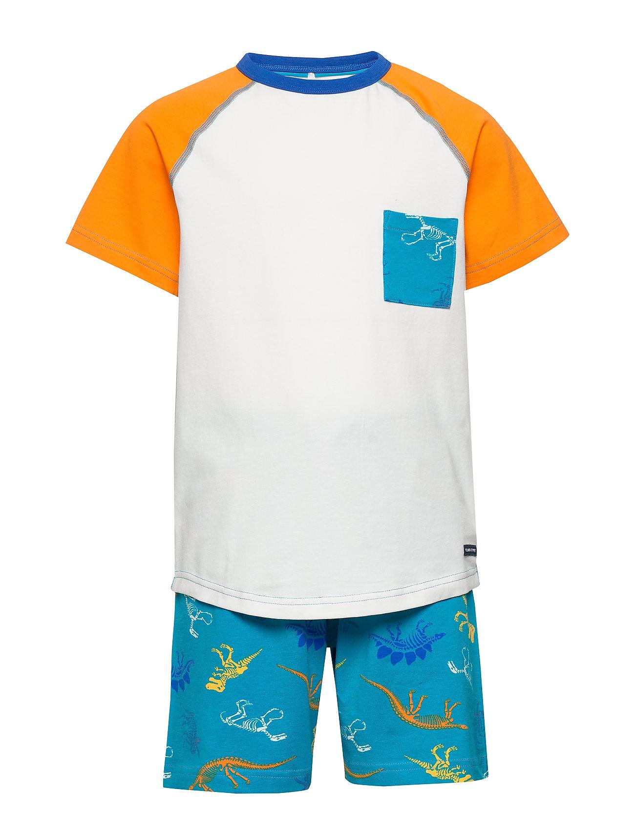 Polarn O. Pyret Pyjamas S/S AOP Preschool - BLUEBIRD