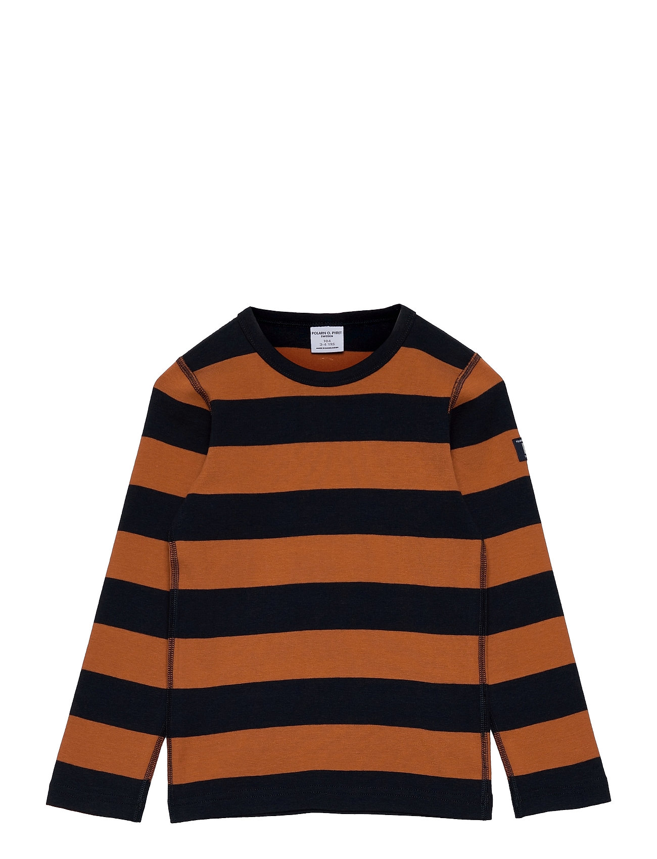 T-Shirt L/S Stripe Preschool Langærmet T-shirt Blå Polarn O. Pyret