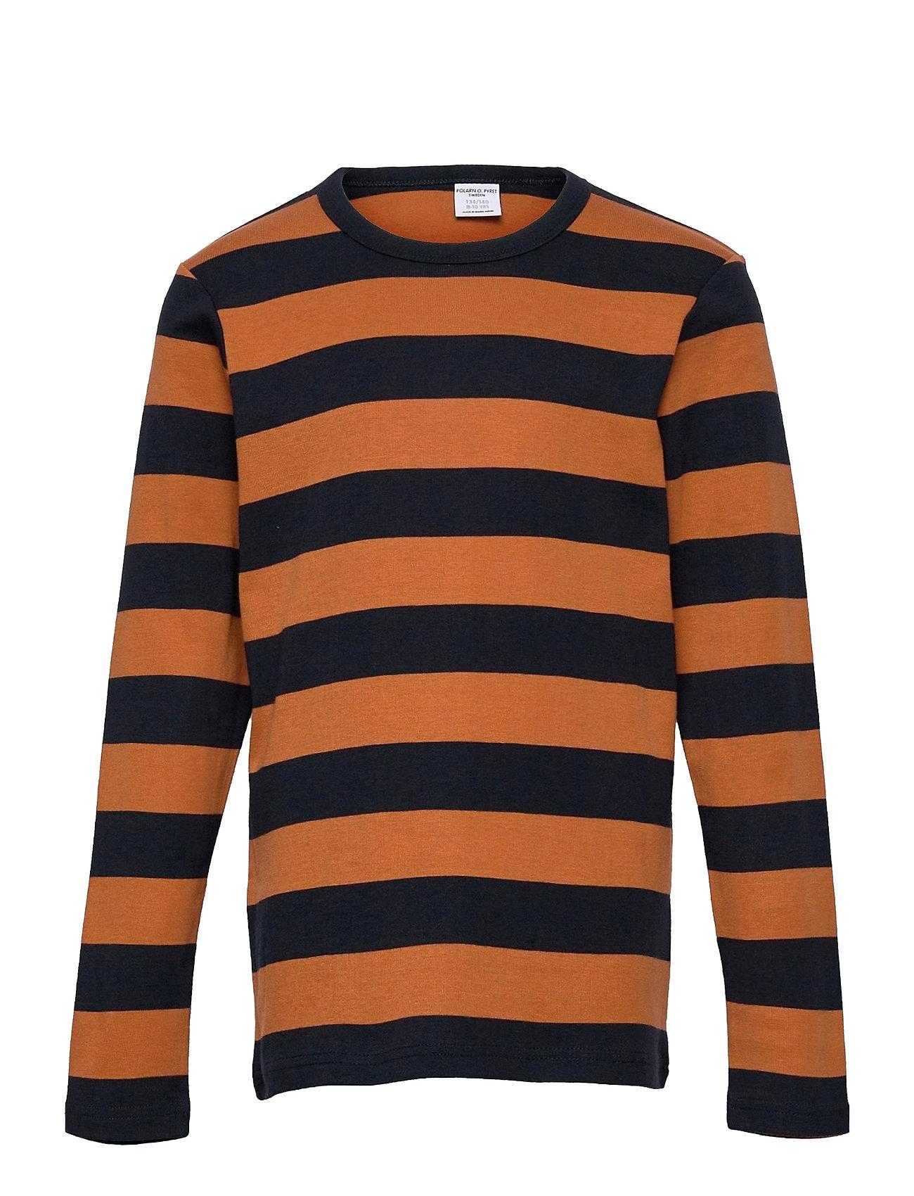 T-Shirt L/S Stripe School Langærmet T-shirt Multi/mønstret Polarn O. Pyret