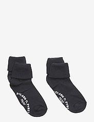 Polarn O. Pyret - Socks 2-P Turn-up Anti Slip Solid - skarpetki - dark sapphire - 1