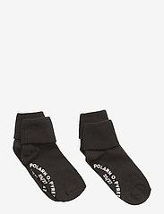 Polarn O. Pyret - Socks 2-P Turn-up Anti Slip Solid - meteorite - 1