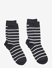Polarn O. Pyret - Socks 2-P PO.P Stripe - skarpetki - dark sapphire - 0