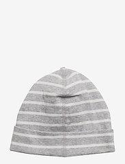 Polarn O. Pyret - Cap PO.P Stripe - hatte og handsker - greymelange - 2