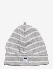 Polarn O. Pyret - Cap PO.P Stripe - hatte og handsker - greymelange - 0