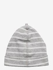 Polarn O. Pyret - Cap PO.P Stripe - hatte og handsker - greymelange - 3