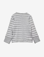 Polarn O. Pyret - T-shirt l/s PO.P Stripe Baby - lange mouwen - greymelange - 1
