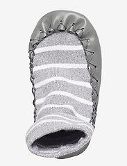 Polarn O. Pyret - Moccasin PO.P Stripe Baby - schuhe - greymelange - 3