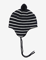 Polarn O. Pyret - Cap Striped Preschool - huer - dark sapphire - 0