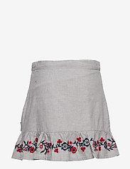 Polarn O. Pyret - Skirt w embroidery School - spódnice - greymelange - 1