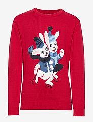 Polarn O. Pyret - Sweater Knitted School - gebreid - chili pepper - 0