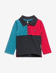 Polarn O. Pyret - TOP L/S with stripe Baby - poloshirt - dark blue - 0