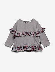 Polarn O. Pyret - Top l/s Woven Preschool - blouses & tunieken - greymelange - 0