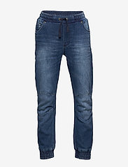 Polarn O. Pyret - Denim pull-on pants - jeans - blue denim - 0